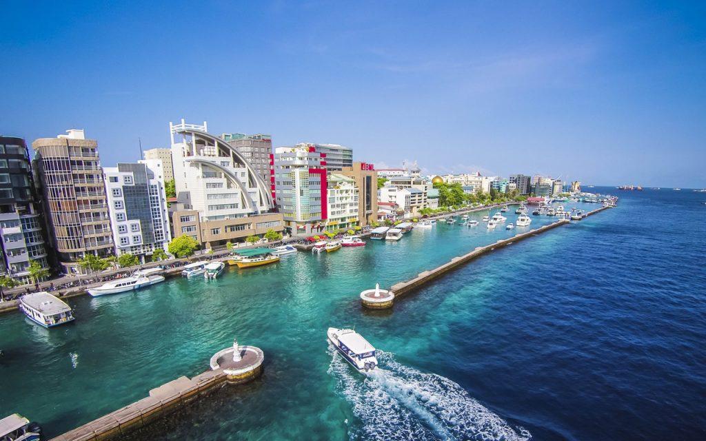 La ville de Malé la capitale des Maldives
