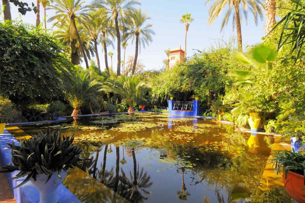 Le Jardin Majorelle à Marrakech au Maroc